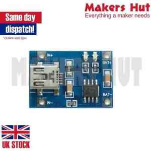 TP4056 5V USB 1A Lithium Battery Charging Board LiPo Charger Module Arduino
