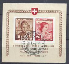 Suiza Bloque 6 MI nr.403/404 SELLO Schaffhausen! SUPERIOR