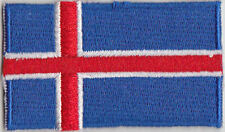 Iceland Country Flag Embroidered Patch T4
