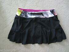 Lululemon Speed Skirt Black w/ Unicorn Tears Waist Size 6