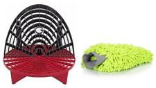 The Grit Guard Insert with Washboard Combo Pack (Black/red with green Mitt)