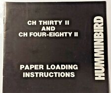 HUMMINBIRD DEPTH SOUNDER PAPER LOADING INSTRUCTIONS  MANUAL, CH MODELS