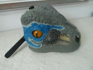 Jurassic World Dinosaur Velociraptor Blue Chomp n Roar Mask with sound effects