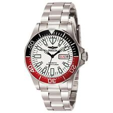 INVICTA 7044 GENTS 40MM SILVER STEEL BRACELET & CASE AUTOMATIC DATE WATCH