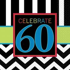 CELEBRATE 60 BIRTHDAY LUNCH NAPKINS PARTY TABLE DECORATION PKT OF 16 X 2PLY 60th