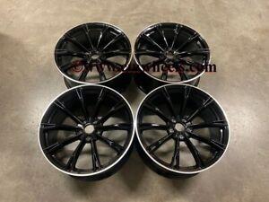 "20"" New ABT GR Style Alloy Wheels Gloss Black Polished Lip Audi A4 A6 A8 5x112"