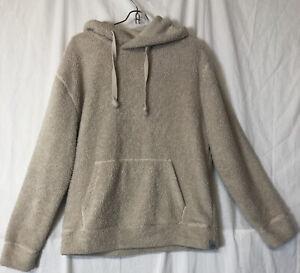 Express Men's Ivory Fleece Sweatshirt Hoodie Size S