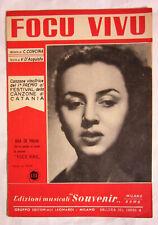 Spartito JULA DE PALMA - Focu vivo - edizioni musicali Souvenir - 1954