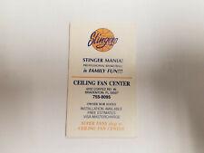 Florida Suncoast Stingers 1985/86 CBA Basketball Pocket Schedule Card