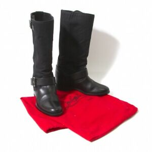 (FINAL PRICE) Christian Louboutin Canvas Switch boots Size 35.5(K-53273)
