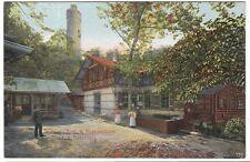 Stuttgart, patio interior del restaurante Hasenberg, vista rara para 1910
