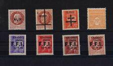 53 TIMBRES PETAIN LVF ELSASS LOTHRINGEN CHABLAIS LIBERE  NFS GO S/CH 1942/1945