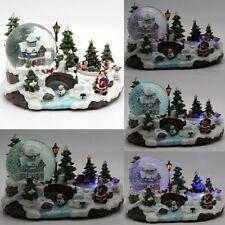 Christmas Musical Santa House Train Rotating Snow Globe Water Crystal Xmas Ball