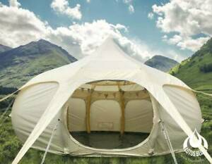 4.6 Metre Lotus Air Belle Inflatable Canvas Glamping Tent