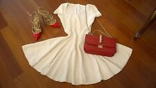 Azzedine ALAIA  MUGUET SQUARE NECK White Dress Size EU 40 US size XS-S