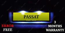 VW Passat 3B B5 3C B6 License Number Plate LED Light Bulbs - Xenon White