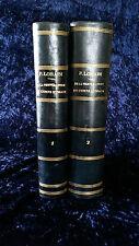 De la température du corps humain-P. Lorain 1877-2 vols-livre ancien médecine
