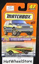 1999  Matchbox  Yellow  '57 Chevy Bel Air Convertible   Card #47    MB-2-122417