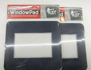 (2) Giraffics - Navy Blue Photo 4x6 Slotted Window MousePad - Sealed - NEW F40