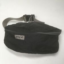 Vintage Jansport Bag Fanny Pack Black Gray strap made in USA some damage see pic