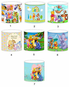 Winnie The Pooh Lampshade Ideal To Match Bedding Duvets Curtains Cushion Covers