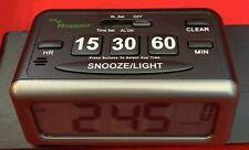 Napper Digital LCD Alarm Clock With Nap Timer & Snooze Buttons Backlit Battery