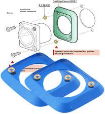 (4pc) NEUTRIK D-Shape Chassis Dust & Water Resistant  Blue Rubber Gasket SCDP-6