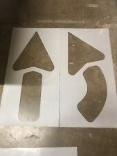 """New listing  42"""" Arrow Kit for Parking Lot Stencils.1 straight & 1 turn,Thick plastic (1/8"""")"""