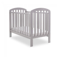 Obaby Lily Cot – Warm Grey - Adjustable Base Height - Simple Stylish Design