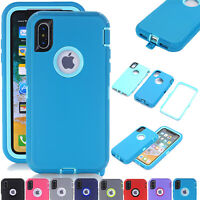 For iPhone XS X 11 Pro Max Shockproof Silicone Shell Cover Heavy Duty Armor Case