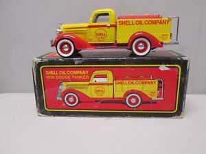 Shell Oil Company 1936 Dodge Tanker Truck Bank by Liberty MIB 72008