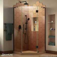 "DreamLine Prism Plus 38"" x 38"" x 72"" Frameless Shower Enclosure in Satin Black"