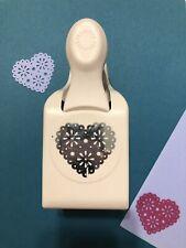 Martha Stewart EYELET HEART Punch Double Craft Scrapbook Cardmaking Crafts