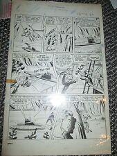 Whiz Comics 137 ORIGINAL PAGE ART Lance O'Casey v Seal Pirates Poachers 1951 B&W