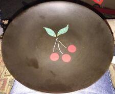 "Vintage Inlaid Tray Couroc of Monterrey 7.75"" Low Bowl Cherries Cherry Coupe"