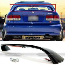 For 96-00 Honda Civic SI Glossy Black Trunk Spoiler Wing LED Brake Light Lamp
