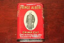 Vintage Prince Albert Crimp Cut Burning Pipe and Tobacco Tin.