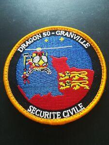 ecussons civile pompiers sécurité civile dragon 50 broderie nouveau modèle