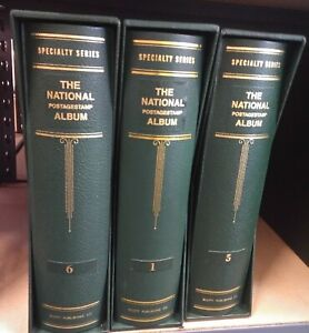 """3 Scott """"The National Postage Album"""", 3"""" 3 post Binder and Slip Cover(A3)"""