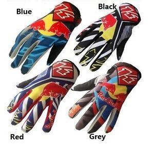 Red bull bicycle gloves motorbike gloves motorcross ATV Offroad bike gloves