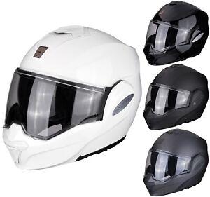 Scorpion Exo-Tech Solid Motorcycle Helmet Flip up System Touring Sun Visor