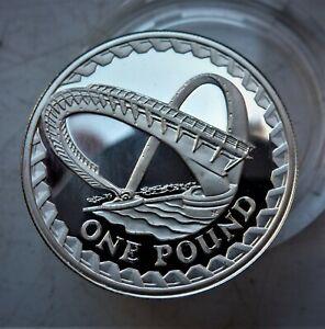 2007 Royal Mint Silver,£1 coin. Scarce Gateshead Bridge PIEDFORT DOUBLE WEIGHT