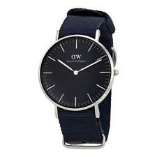 Original Daniel Wellington Classic Black Cornwall silber 36mm DW00100151 NEU