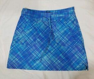 Women's OAKLEY CLUBHOUSE BLUE Purple Plaid Tennis Golf Skirt Size 0