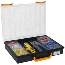 Crimpset, en plastique Box Avec Terminaisons, Pince à sertir et Entmantler