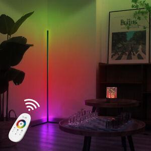"55"" Minimalist Corner Lamp RGB LED Corner Floor Lamp Remote Control Night Lamp U"
