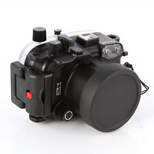 40m/130ft Waterproof Underwater Diving Housing Case For Canon G7X Mark II Camera