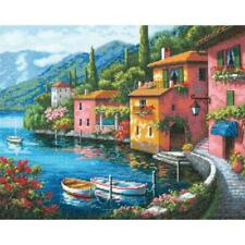 """Dimensions Gold Collection Counted Cross Stitch Kit Lakeside Village 12"""" X 15"""""""