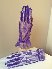 RED HAT LADY PURPLE LACE GLOVES VICTORIAN LADIES TEA CIVIL WAR RED CAS SASS