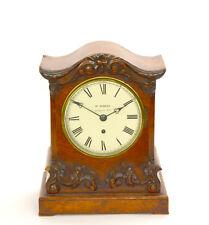 Antique English Wm Pembury of Ludgate Hill Fusee Chain Walnut Case Bracket Clock